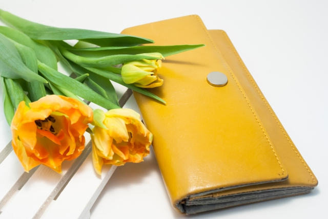 財布とお花